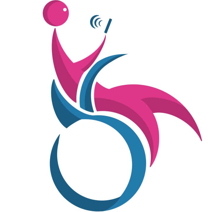 Study Icon of someone sitting in a wheelchair looking at a phone