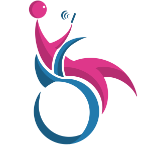 Study Icon of someone in a wheelchair holding a phone